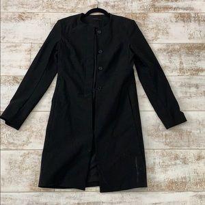 Theory Black Jacket Coat Size Small